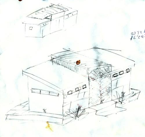 wimberley off grid cabin hand sketch
