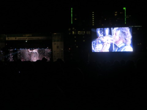 jumbotron on auditorium shores sxsw flaming lips 2013