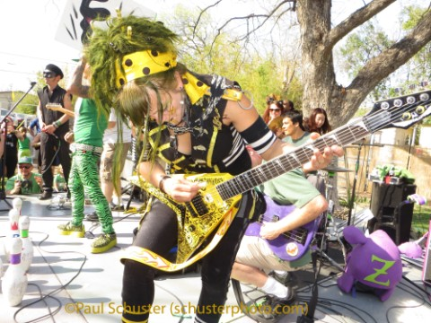 minor mishap marching band washboard plays guitar for peelander z sxsw austin 2013