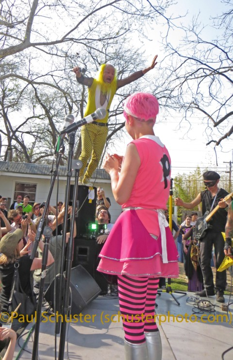peelander z jump sxsw austin 2013 springdale farm chicken ranch records