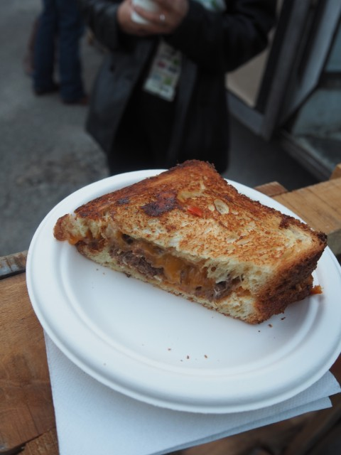 short rib grilled cheese with pepper jam from seedling food truck by royal fig