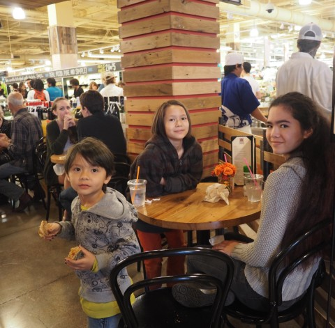 kids at whole foods flagship store restaurant