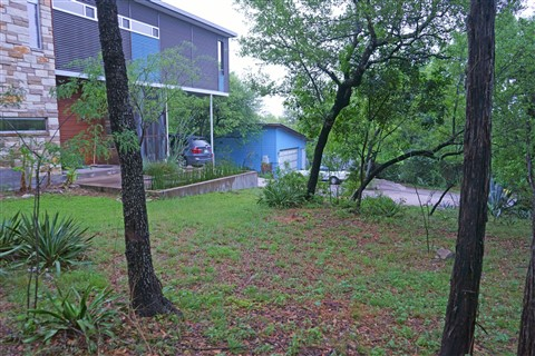 austin modhouse west lake hills front yard
