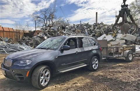bmw x5 work vehicle dump truck tow