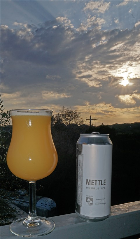trillium mettle dipa sunset