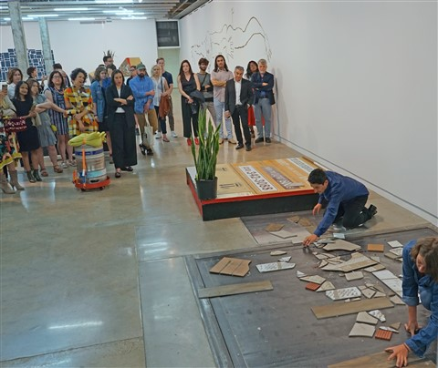 tile smashers at the jones contemporary art austin