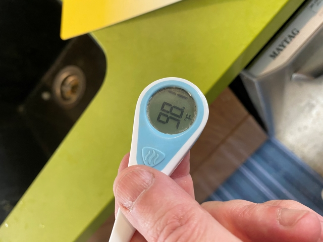 no fever 98.1F