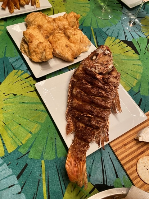 whole fried snapper