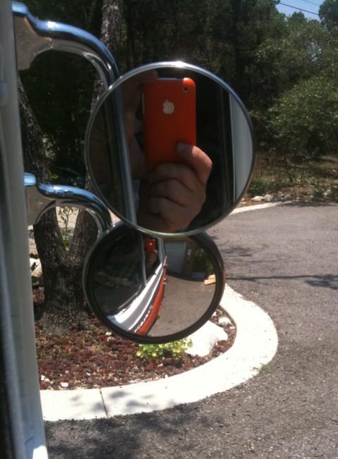 blind spot mirror peep econoline van 1965