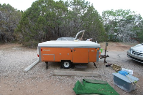 collapsed apache mesa camper