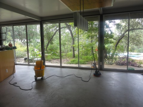 stripping the concrete floor