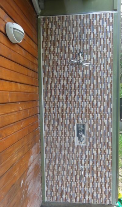 outdoor shower glass tile vertical austin tx amh