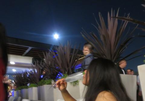 full moon on RIO rooftop bar pool