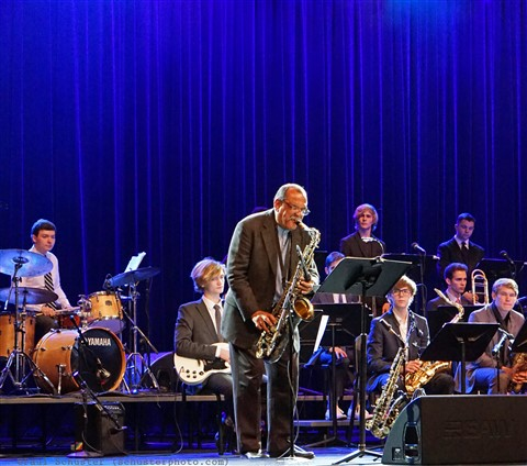 Ernie Watts and the Westlake Jazz Ensemble 2017 with Toby Grace on drums