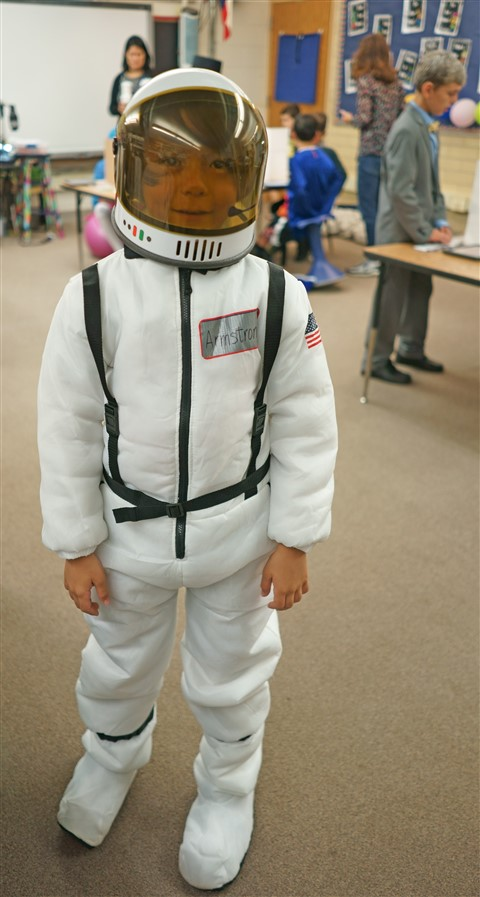 eanes elementary wax museum neil armstrong