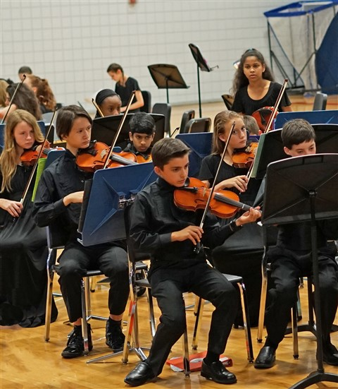 HCMS Concert Orchestra string section May 2017