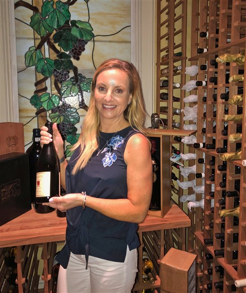 Connie's wine room