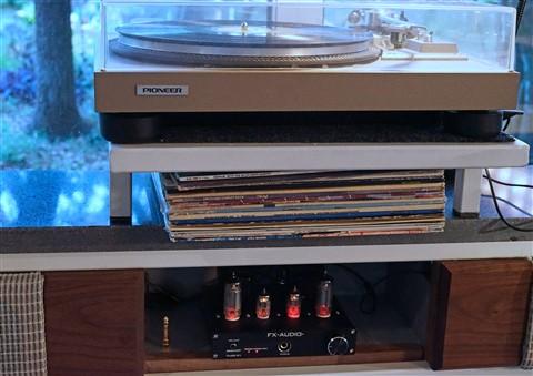 vintag pioneer turntable vinyl tube amp