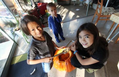 pumpkin cleaning