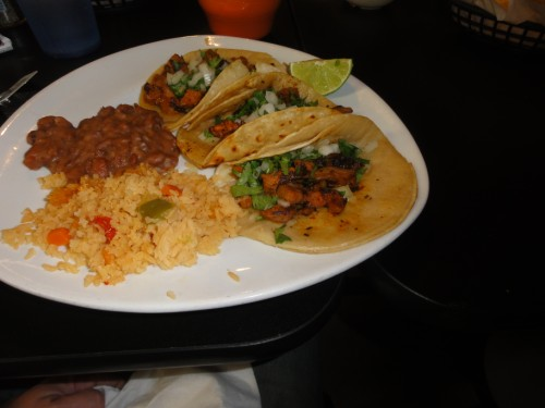 tacos al pastor at domingo's in dripping springs tx