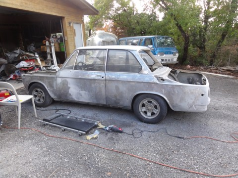 bare metal paint job vintage bmw 2002 1972