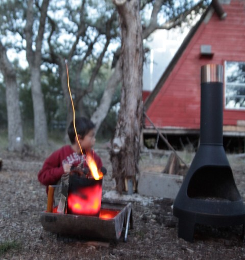 mid centory modern mcm grill chiminea