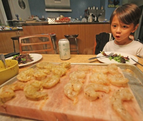 himalayan salt plate shrimp feast 2013