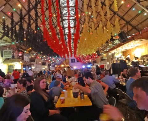 beer and dance hall wurstfest