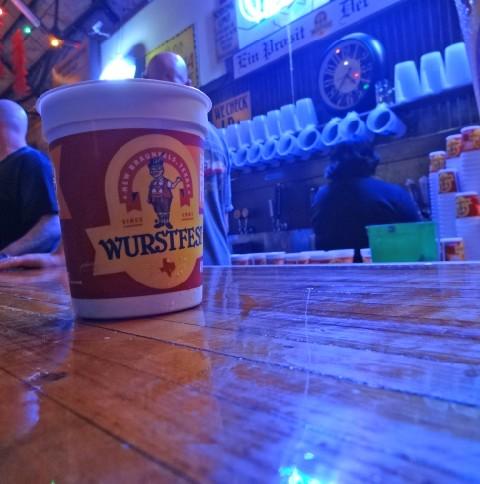 beer at wurstfest 2013