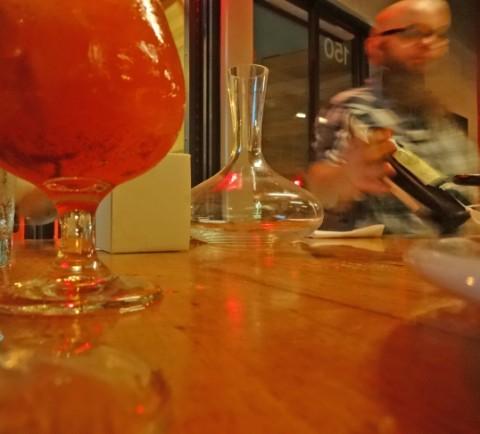 wine service at barlata austin tapas