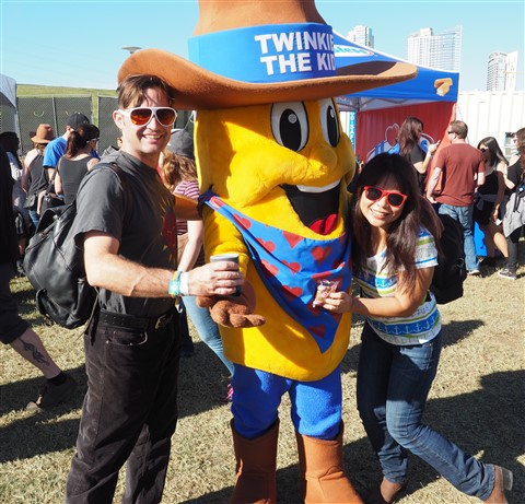 twinkie man at ffff austin hostess