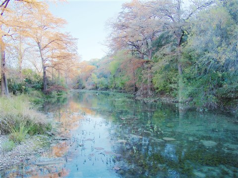 wimberley texas fall colors blanco river 2014