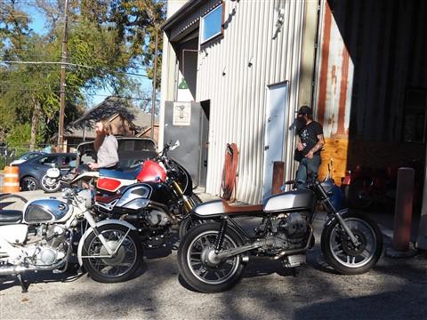 vintage motorcycle restoration and modification cafe racer austin