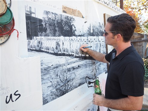 paul schuster artist and beer consumer