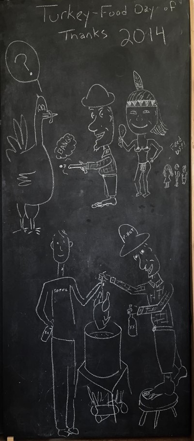 paul schuster chalkboard art thanksgiving