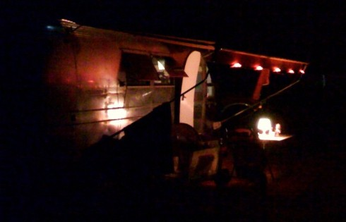 1968 overlander at night