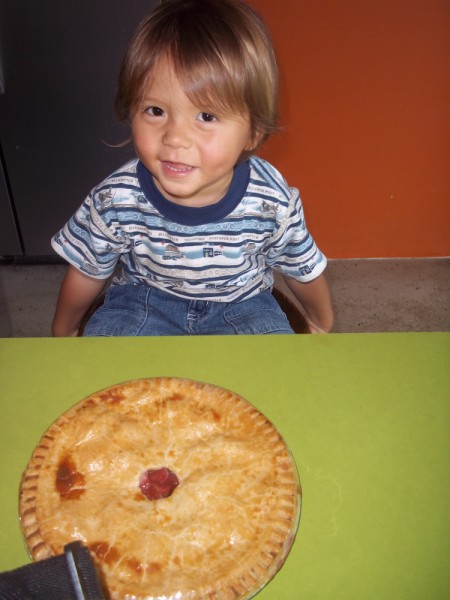 strawberry rhubarb pie from WPC