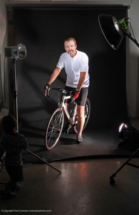 behind the scenes cyclist shoot