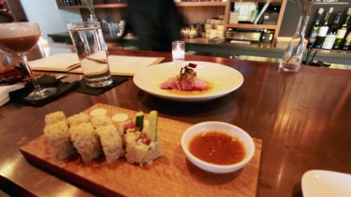 crunchy tuna roll, hama chili