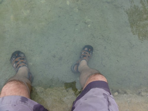 clear water of the rio frio