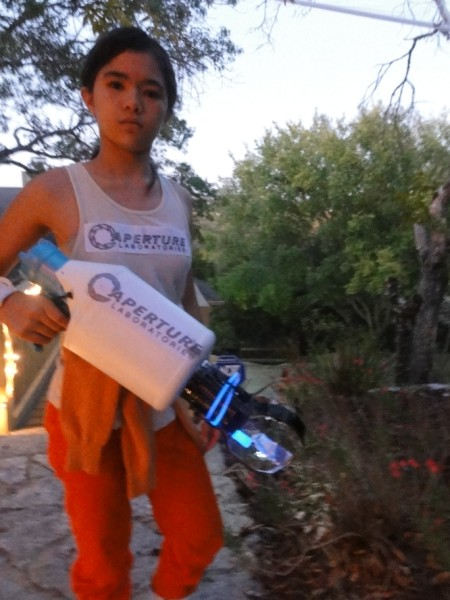 aperture science portal gun prop chell costume