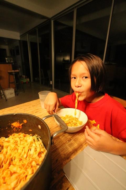 pasta eating boy #1