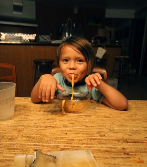 pasta eating boy #2