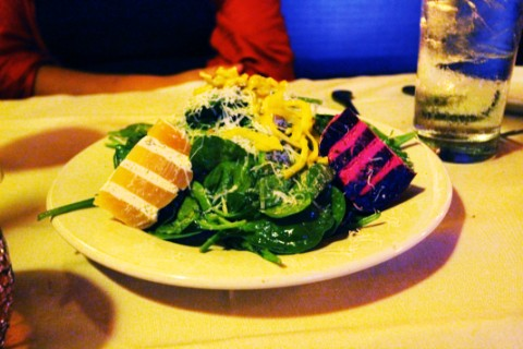 roasted beet and goat cheese napoleon salad