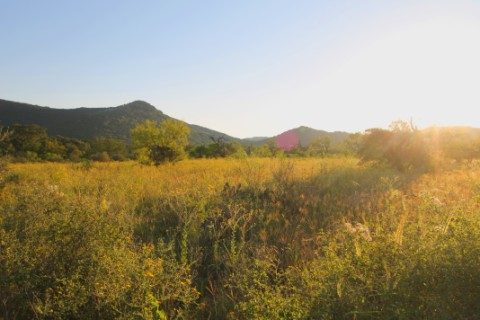 sunset as seen from garner state park uvalde utopia tx