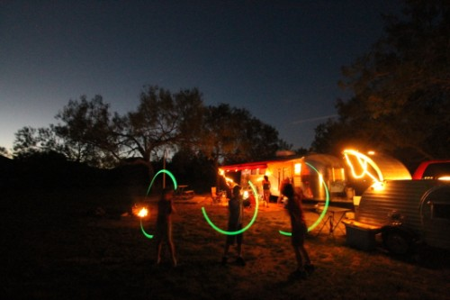 glow sticks at dusk garner state park  tx
