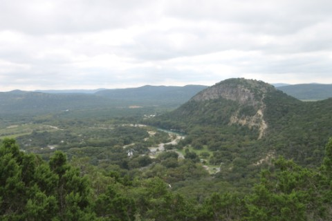 view from painted rock to old baldy garner state park texas