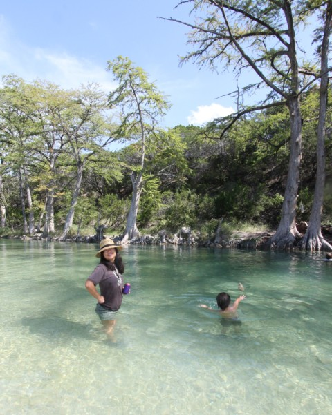 clear river water of the rio frio garner state park texas