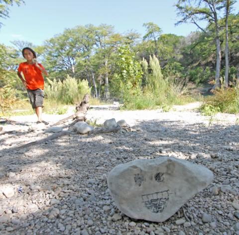 happy rock at garner state park