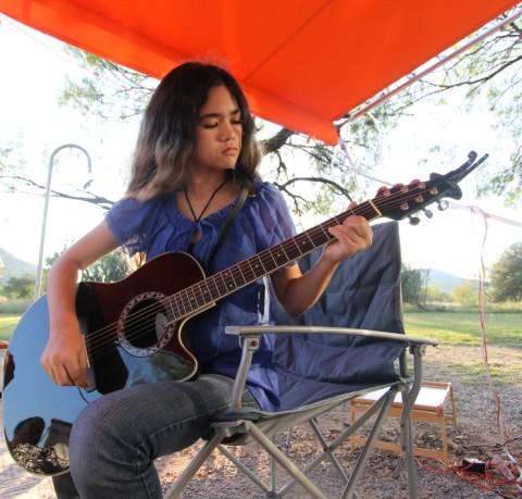 guitar practice at garner state park